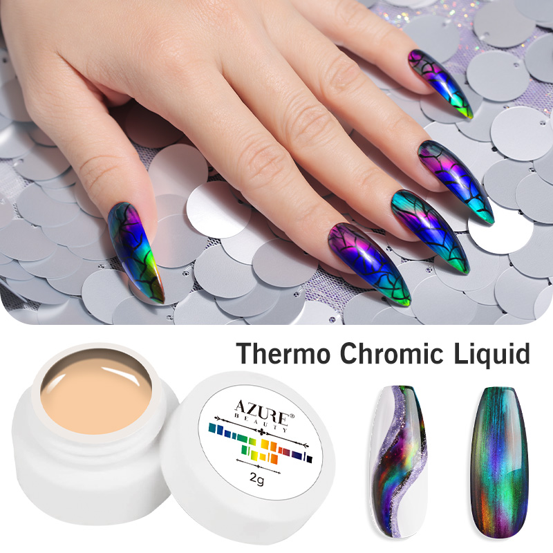 Modelones Thermochromic Liquid 2g Soak Off Base Top Coat Temperature Changing Color Gel Varnish Long Lasting Use With Color Gel
