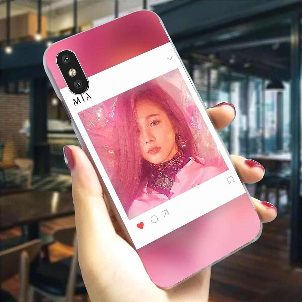 하드 Everglow KPOP 여자 전화 커버 아이폰 8 플러스 케이스 6 6S XR Xs 맥스 X 7 5 S 5 SE 11 프로