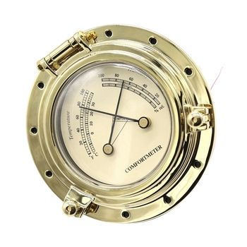 RV Accessories Yacht Analog Hygrometer Cigar Tobacco Humidity Gauge Glass Lens Pointer Quartz Clock