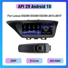 COHO Android 10.0 Octa Core 4+64G Gps Navigation Multimedia Android Car Radio  For Lexus ES250 ES300 ES350 2013 2017