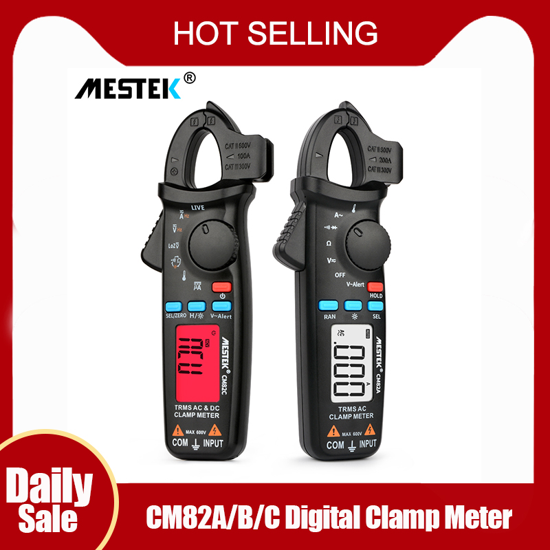 True RMS Digital Clamp Meter MESTEK CM82A/B/C DC AC Current Voltage Ampere NCV Ohm Tester Ammeter Multimeter Electrician Tool
