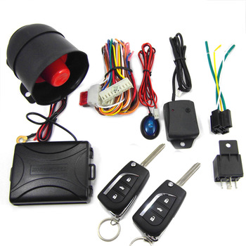 CHADWICK 8119 Car Alarm System for Toyota Corolla #2 flip key Universal Siren one-Way Auto Security Keyless Entry anti-theft new