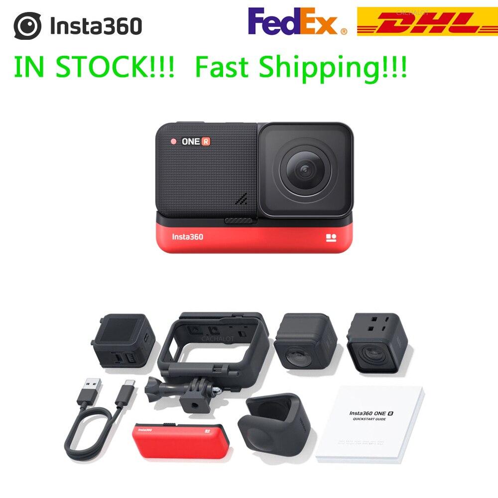 Модульная Экшн-камера Insta360 ONE R Leica 5,3 K 360 5,7 K 4K, мультимодульная камера Twin Edition 360 Edition Insta 360 ONE R, батарея