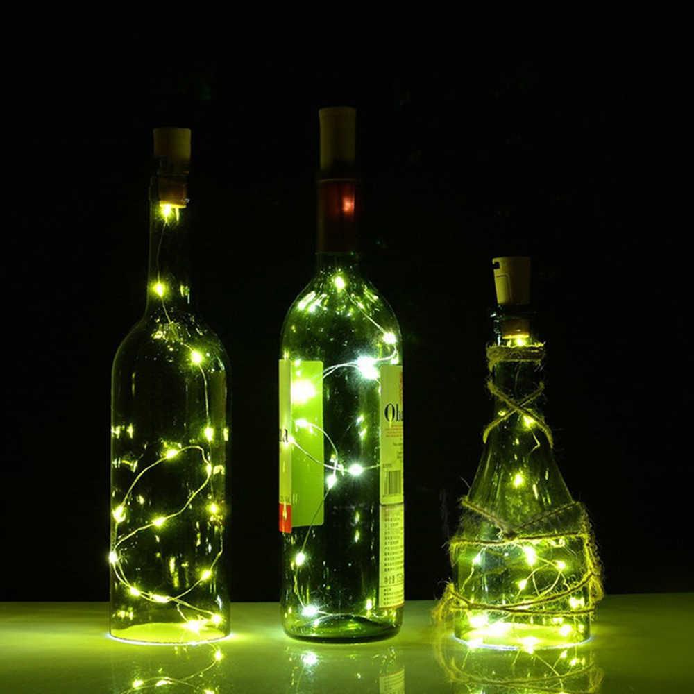 10 LED Wine Bottle Cork Lights DIY Cork Stopper Light String Wire Light  W/candle Wine Bottle Colorful Fairy Mini String Lights