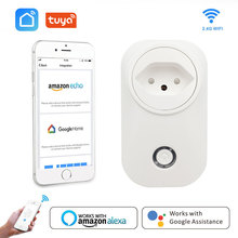 Switzerland Smart Plug Wifi Socket Swiss Plug 16A Power Monitor CH Outlet Tuya Smart Life Works With Alexa Google Home