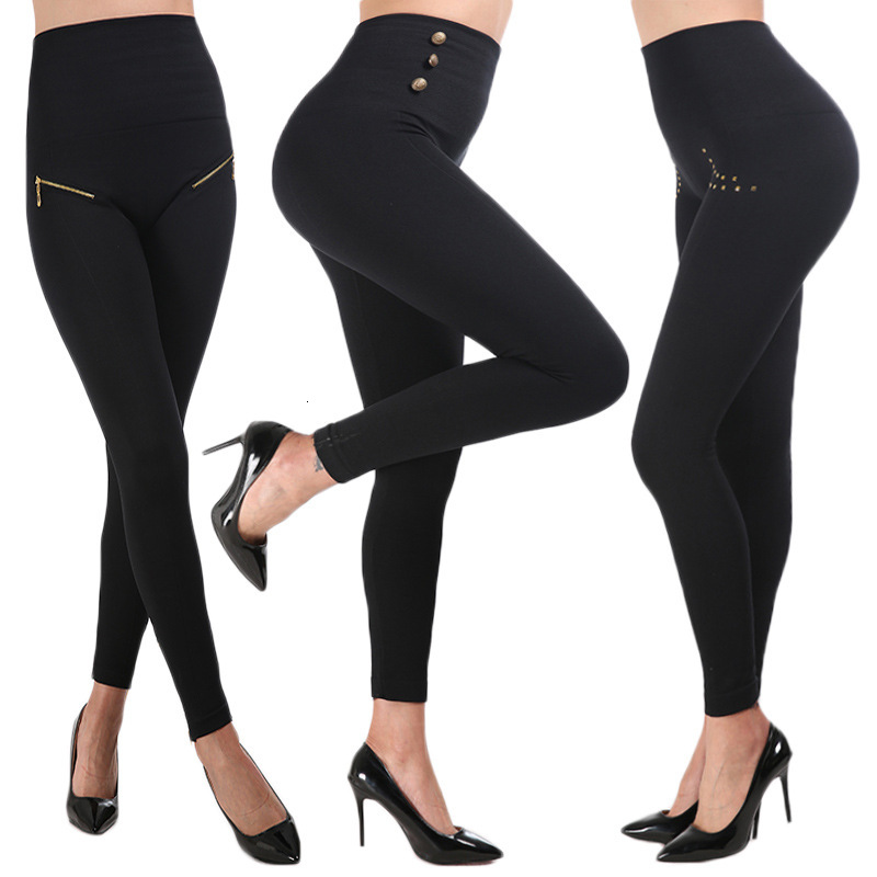 Women Leggings Hollywood Pants Stovepipe Leggings High Waist Hip Abdomen Pants Plus Size 3XL