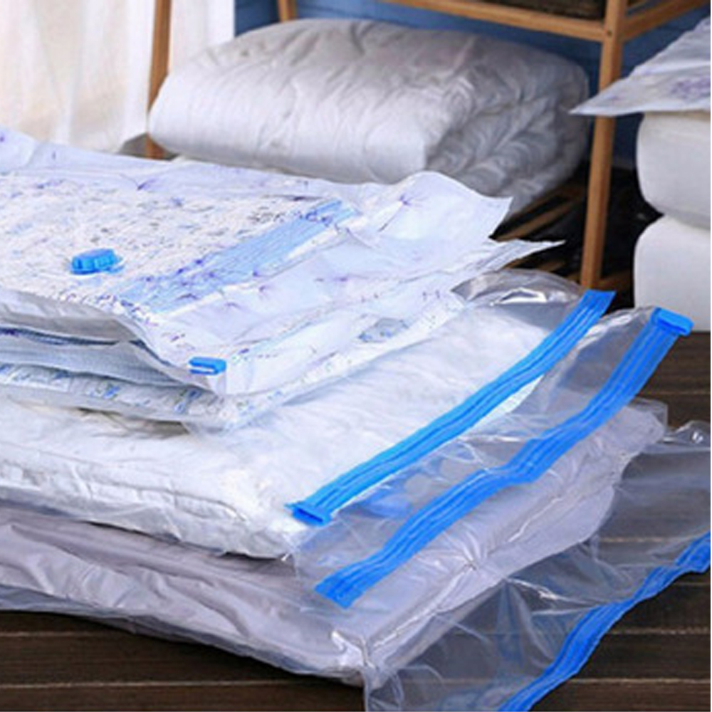 home Convenient Vacuum Bag Storage Organizer Transparent Clothes Organizer Seal Compressed travel Saving Space Bags Package