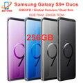 Оригинальный сотовый телефон Samsung Galaxy S9 + S9 Plus Duos G965FD с двумя Sim-картами 256 ГБ ROM 6 Гб RAM глобальная версия Octa Core 6,2