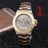 Orologio meccanico di design di lusso da uomo di moda orologio classico nero cinturino in acciaio calendario orologio da uomo di marca regalo 089