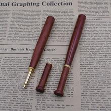 (12 Pieces/Lot) Creative Pens Wholesale Wooden Baseball Shape 0.5 mm Black Ink Wood Ballpoint Pen  Writing Tool Joy Corner
