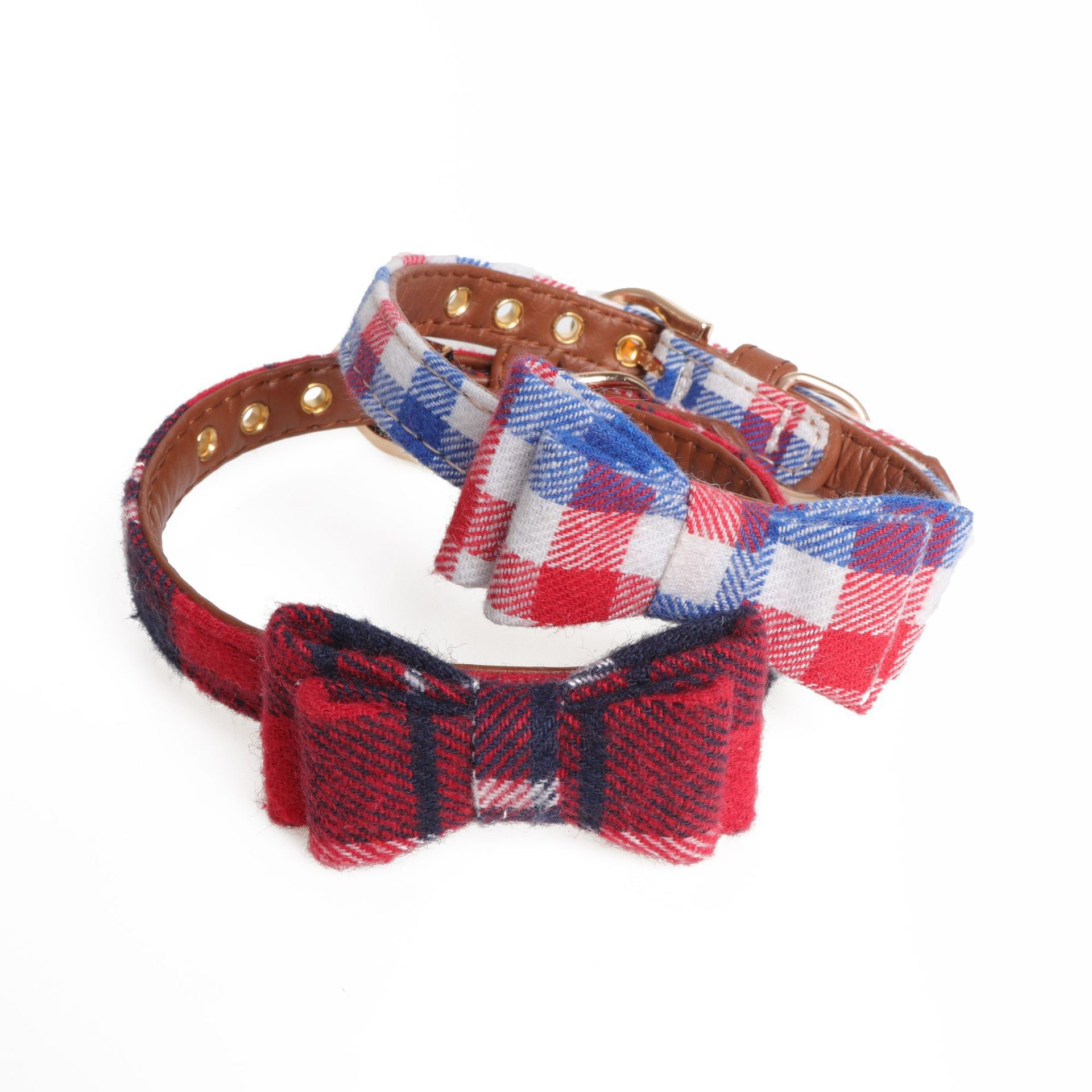 Amin Lattice New Products Pet Collar England Bow Dog Neck Ring Cat Neck Ring Small Pet