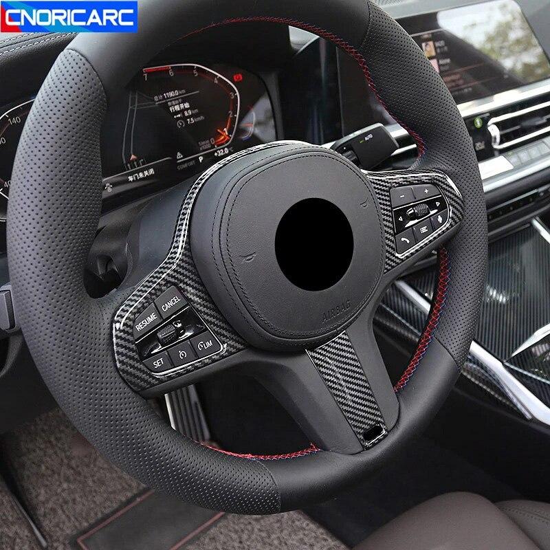 Декоративная Обложка на руль автомобиля, декоративная Обложка, наклейки, отделка для BMW 5 серии G30 X3 G01 X4 G02 X5 G05 X6 G06 2020, наклейки для интерьера