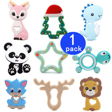 Tiny Rod 1pc Silicone Bambi Sika Deer Teether Sensory Toy New Born Baby Accessories Care Organic Nursing