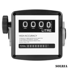 FM120 High Accuracy Mechanical Oil Meter 1 Inch 4 Digital Digital Diesel Gas Fuel Oil Flow Meter Counter Gauge Flow Sensors