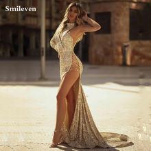 Женское вечернее платье с юбкой годе smileven длинное Привлекательное