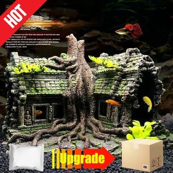 Resin Imitation Wooden Root House Ruins Aquarium Ornament Fish Tank Decoration aquarium accessories decor