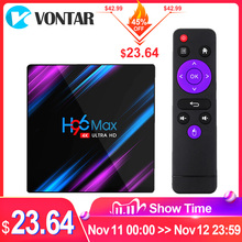 فونتار H96 ماكس مربع التلفزيون الذكية أندرويد 9.0 RK3318 4GB RAM 64GB واي فاي 4K يوتيوب H96MAX 2G 16G أندرويد TVBOX مجموعة مشغل وسائط تي في بوكس