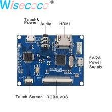 Wisecoco RGB LVDS USB HDMI аудио драйвер платы контроллер совместим с емкостным сенсорным экраном панели plug and play