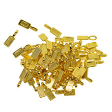 Set of 50pcs Glue-on Flat Pad Bails Pendant Cabochon Jewellery Findings, Antique Gold(China)