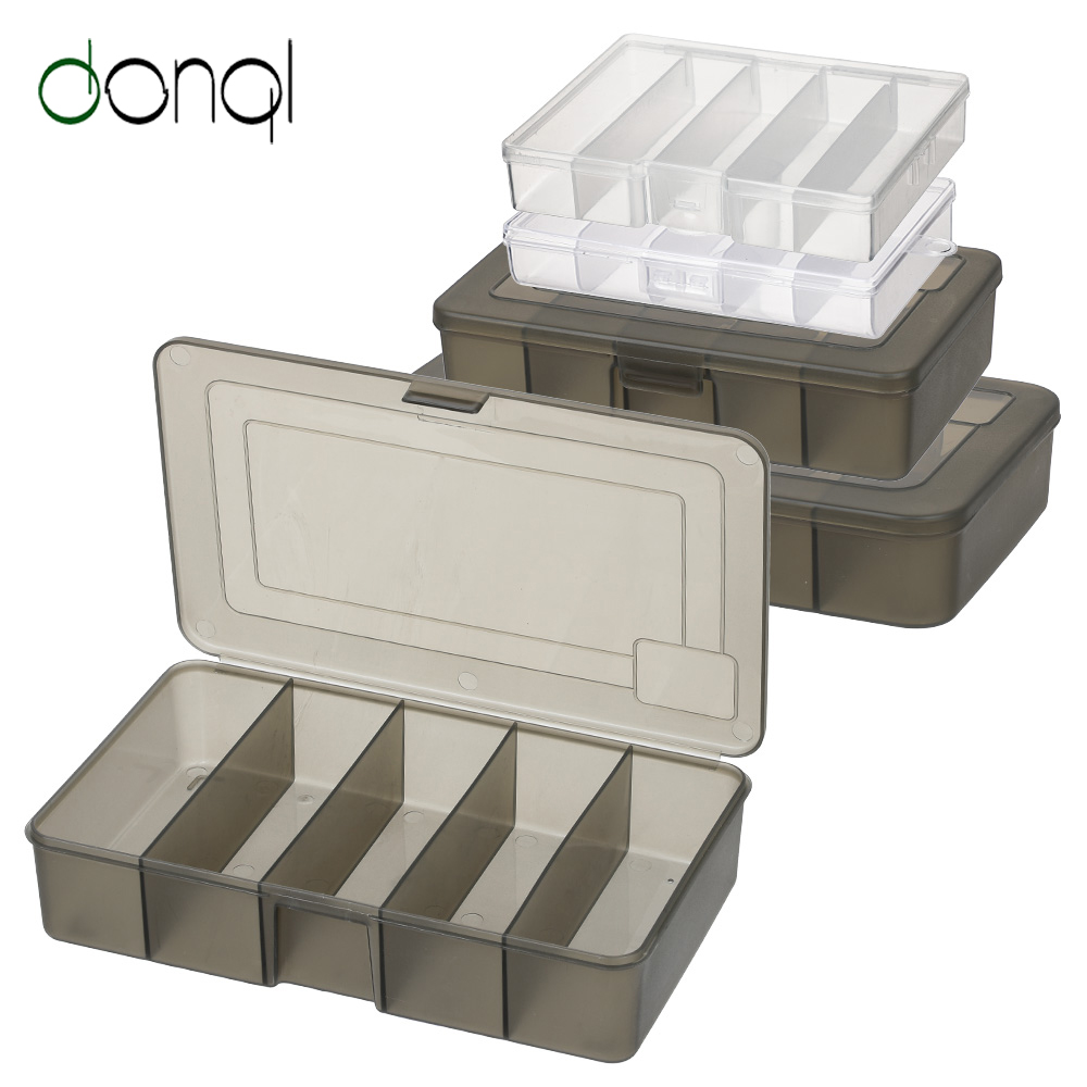 DONQL Fishing Tackle Box For Baits Hooks Transparent Plastic Storage Lure Box Carp Fishing Tackle Accessories Compartment Box