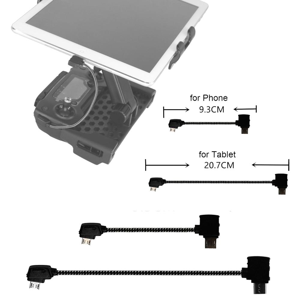 Tablet Controller Adapter Micro-USB Reverse Type-C Port Cable Connector For DJI Mavic Pro Platinum Air Mavic 2 Mini Data Line