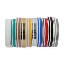 1 rolo de cor sólida corpo do carro decalque vinil adesivo striping linha dupla fita decoração carro acessórios automóveis