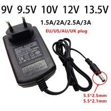 9v 9.5v 10v 12v 13.5 v ac/dc adaptador de alimentação universal 9 10 12 13.5 volts adaptador 1.5a 2a 2.5a 3a adaptador 5.5mm de comutação