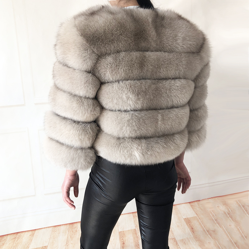 2019 new style real fur coat 100% natural fur jacket female winter warm leather fox fur coat high quality fur vest Free shipping 151
