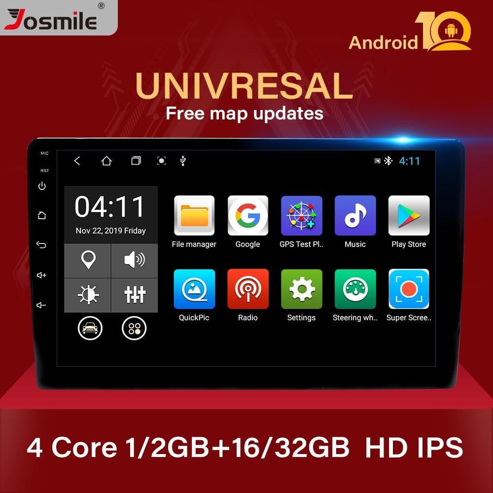 10 .1 4-ядерный Android 10,0 2 Din Авторадио автомобильный мультимедийный плеер универсальный стерео GPS-навигатор Bluetooth аудио видео плеер
