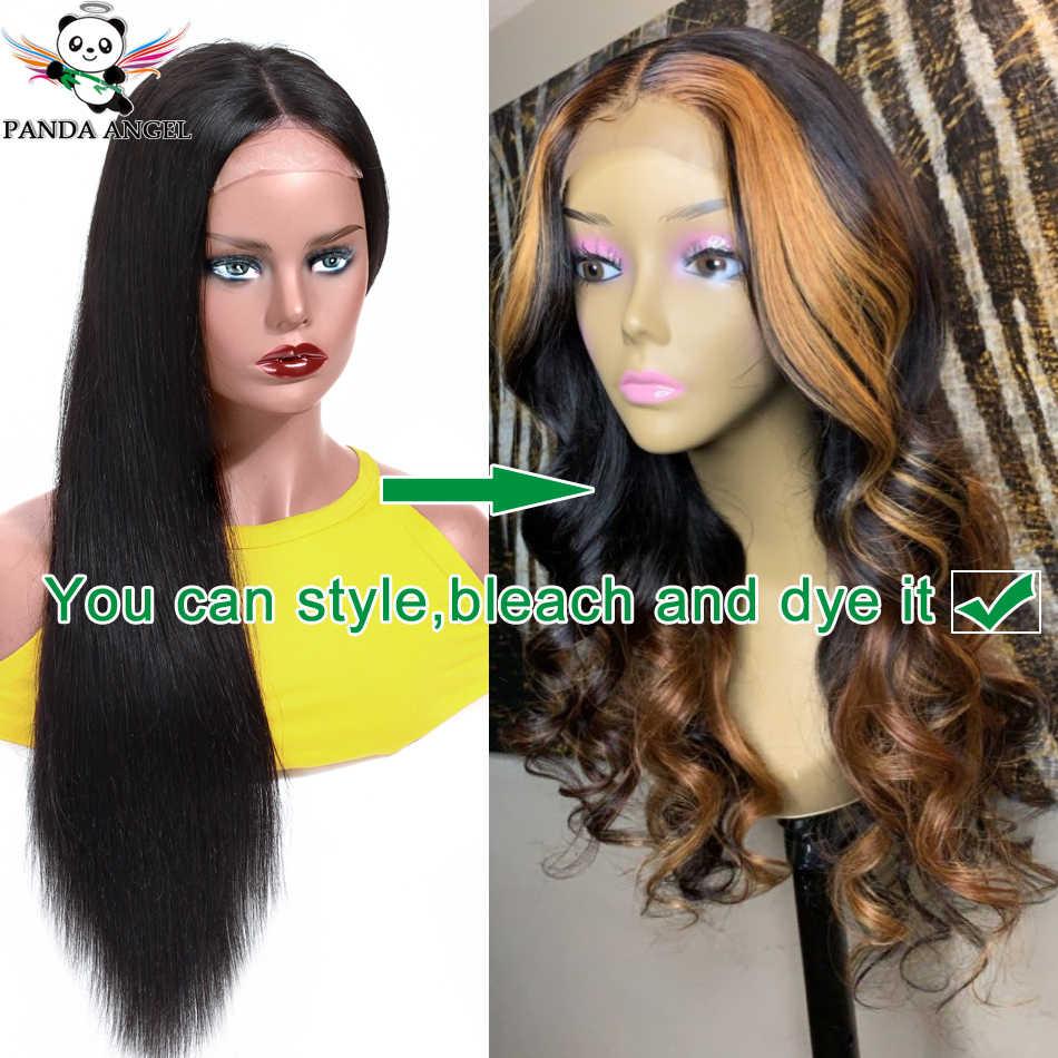 13X4 Renda Depan Wig 10-30 Inci Brasil Lurus Lace Front Wig 150% Density Digunakan Dipetik 100% rambut Manusia Remy Renda Wig Panda