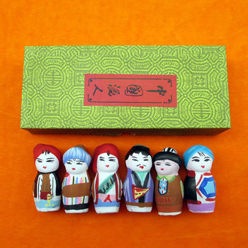 Peking Opera Facial Makeup Primary Six Clay Figure Folk Crafts Send Foreigner National Minority Nation Gift Bulk Cargo