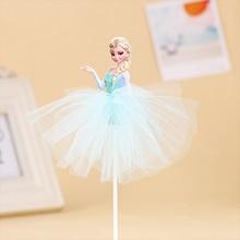 1pcs/Lot Frozen Elsa Anna Princess Cake Cupcake Toppers Cake Flag Girls Birthday Party Decoration Anniversaire Cake Supplies