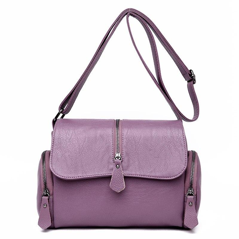 Large Soft Leather Bag Lady Shoulder Crossbody Bags For Women Messenger Bag Luxury Women's Leather Handbags Bolsas Feminina