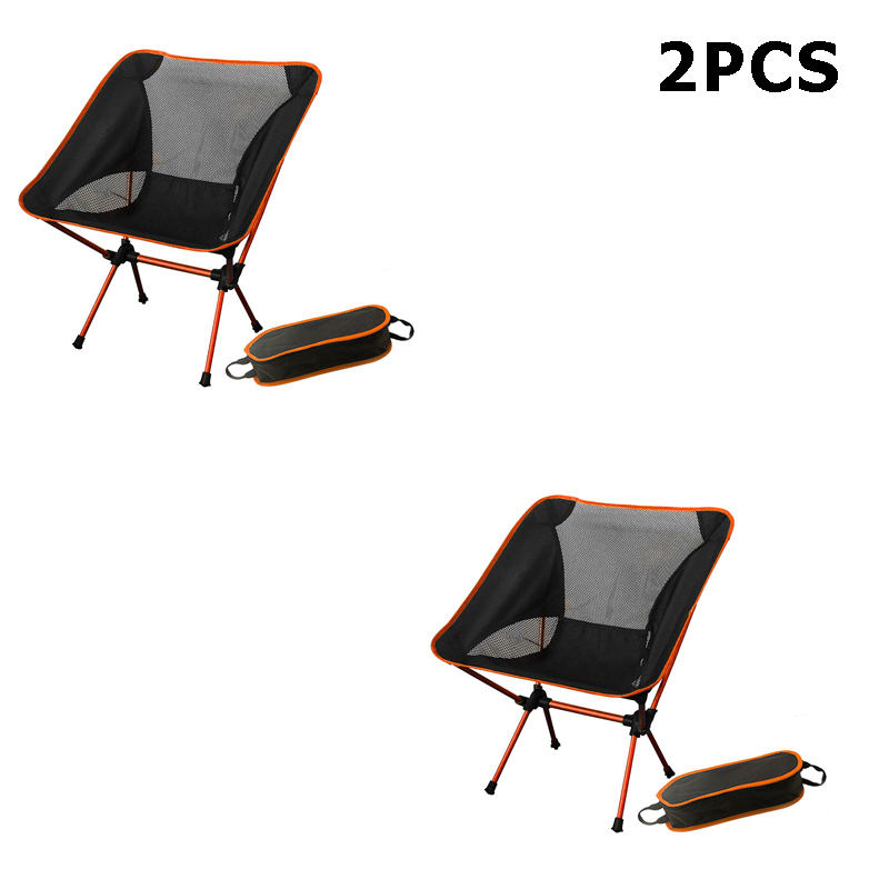 Portable Camping Beach Chair Lightweight Folding Fishing Outdoor camping Chair Ultra Light Orange Red Dark Blue Beach Chairs