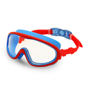 Kids Swim Goggles Children 3-8Y Wide Vision Anti-Fog Anti-UV Snorkeling Diving Mask Ear Plugs Outdoor Sports