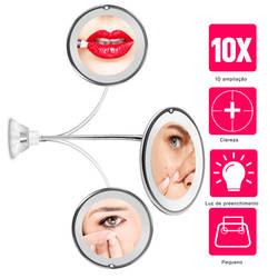 360 градусов 10X складное зеркало вращающееся зеркало для макияжа My гибкое зеркало увеличительное зеркало для макияжа со светодиодный