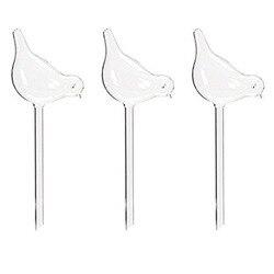 EASY 3 Pack podlewacz roślin samo podlewanie globusy  kształt ptaka ręcznie dmuchane przezroczyste szklane żarówki Aqua Spryskiwacze Dom i ogród -