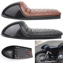 Retro Sattel Scrambler Kissen Motorrad Sitz Pan Basis Für Honda Kaeasaki Yamaha Ducati BMW Triumph Vintage Cafe Racer Sitz