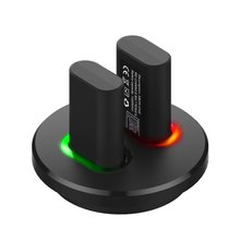 USB Charging Dock Station Charger +2 Rechargeable Battery fo