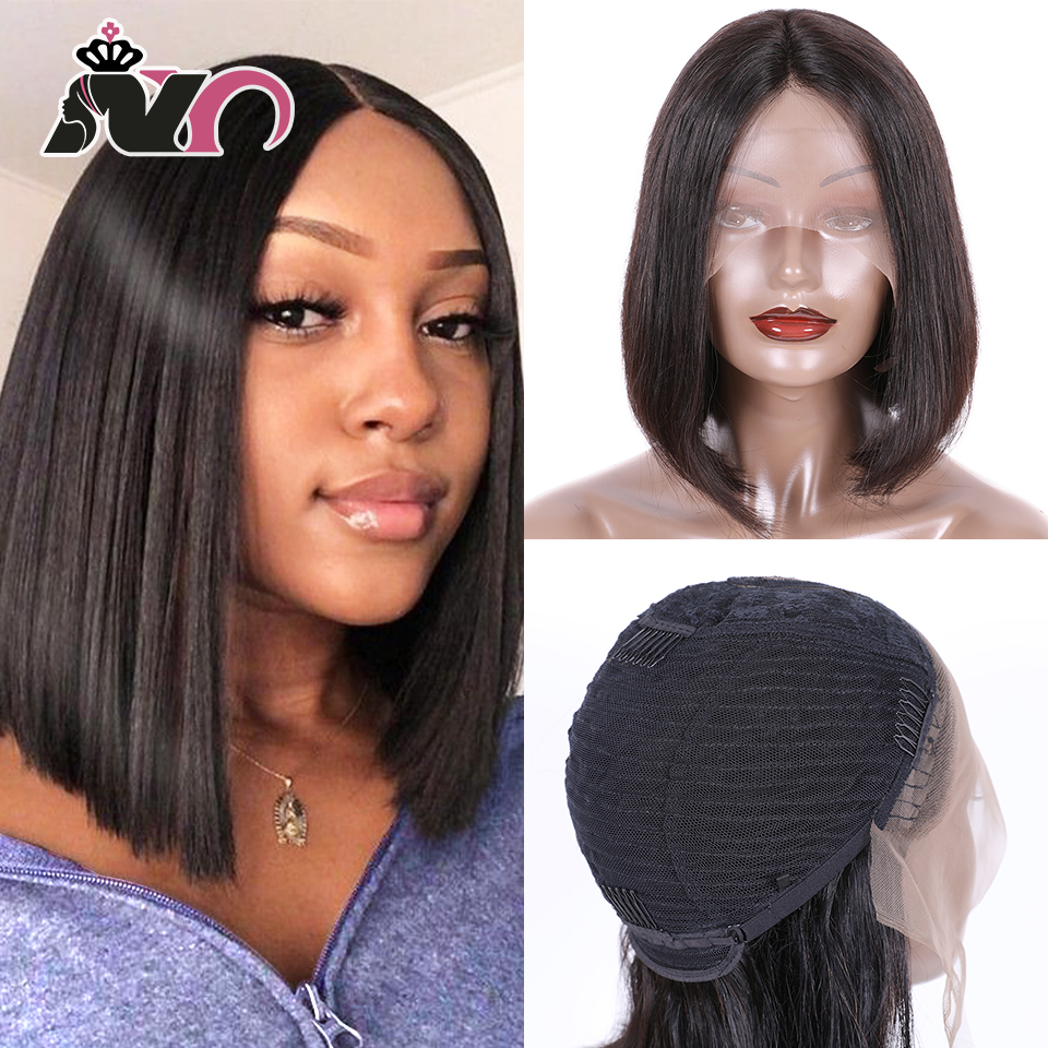 NY Hair Bob Lace Front Wigs Peruvian Bob Lace Front Human Hair Wigs Natural Color Straight Bob Wig Lace Front Human Hair Wigs