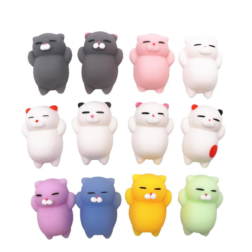 1pc Depression Doll Doll For Children Cute Cartoon Cat Squishy Mobile Phone Doll Small Animal Squeezing Vent Stress Release Toys