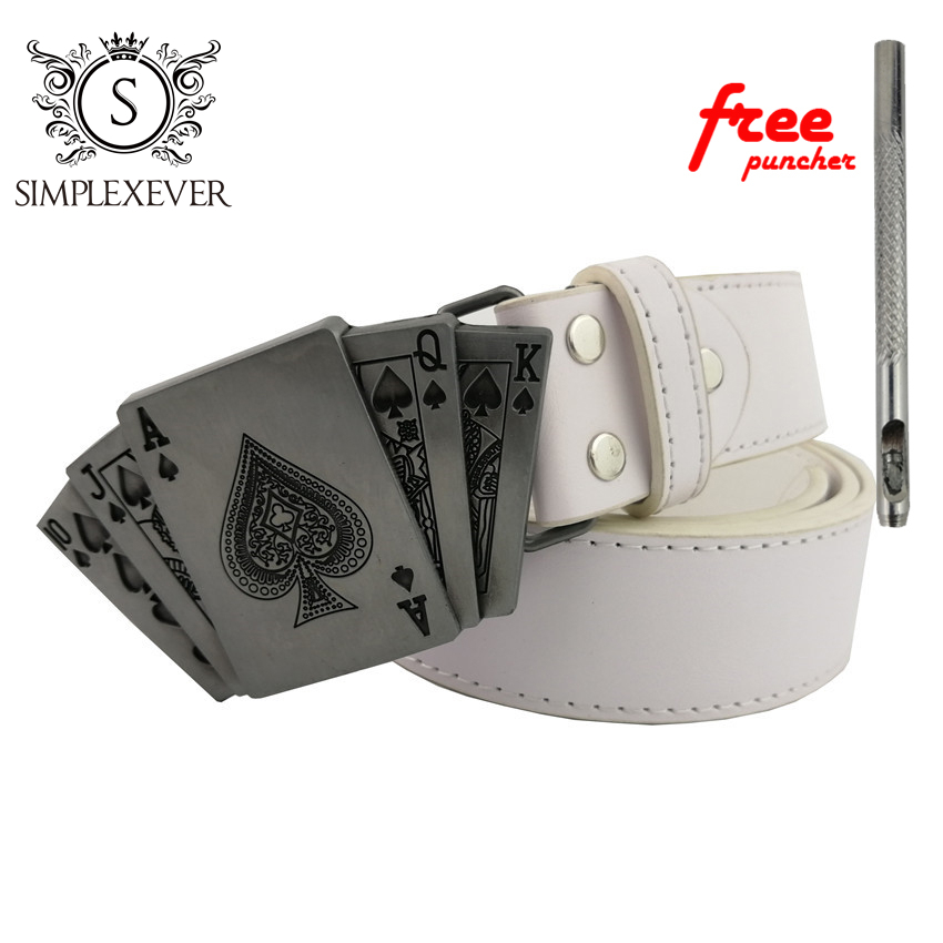 Western Poker Belt Buckles Western With Pewter Finish Fit Men's Belt Jeans Accessories Handmade For Men Hebillas Cinturon