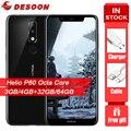 Nokia X5 5,86 дюймовый смартфон Helio P60 Octa Core Dual Sim карты с функцией отпечатка пальца ID 3060 мАч батарея LTE 4G Android мобильный телефон