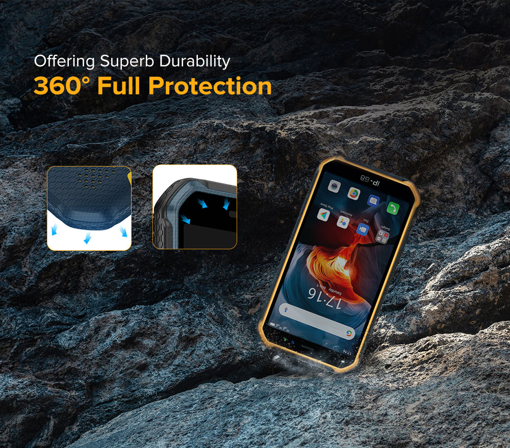 Ulefone Armor X7 Pro IP68/IP69K Waterproof Rugged Phone Android 10 Mobile Phone 4GB RAM 32GB ROM NFC 4000mAh Smartphone