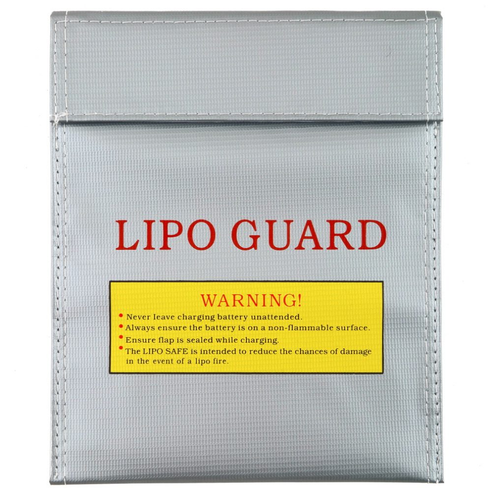 1Pc Fireproof RC LiPo Battery Safety Bag Safe Guard Charge Bag Sack 180 X 230 Mm New Hot!
