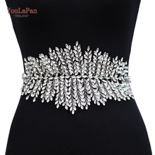 YouLaPan SH238 Fast Delivery Sliver Diamond Wedding Belts Wedding Dress Belts Accessories Rhinestone Belt Bridal Sash Belt