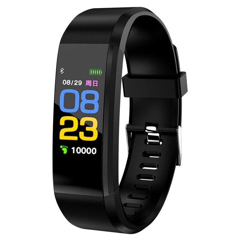 Pulseira inteligente da Frequência Cardíaca Pressão Arterial Saúde Relógio À Prova D' Água Relógio Inteligente Relógio Bluetooth Pulseira De Fitness Rastreador