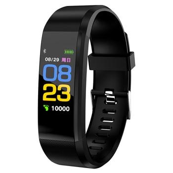 Pulsera inteligente Frecuencia Cardíaca presión arterial salud reloj impermeable reloj inteligente Bluetooth reloj pulsera Fitness rastreador