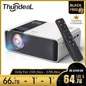 Image 1 - ThundeaL HD Mini projektör TD90 yerli 1280x720P LED Android WiFi projektör Video ev sineması 3D HDMI film oyun Proyector