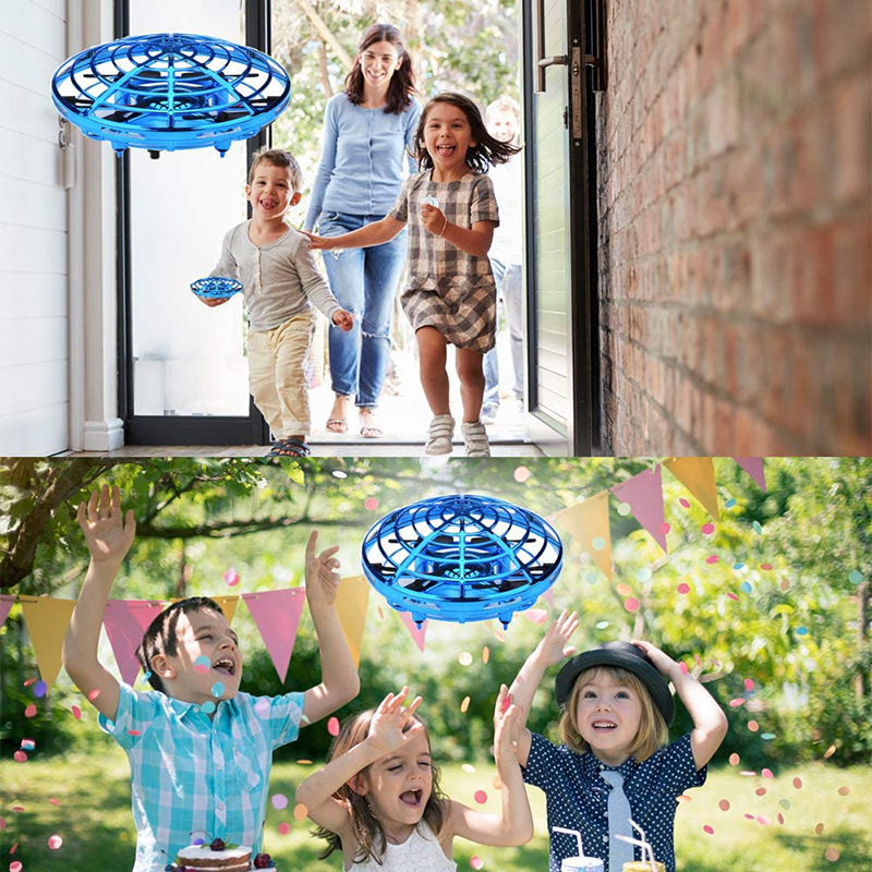 MKTOYS UFO Mini Drone Toys for Kids Helicopter Infrared Induction Aircraft Flying Ball Quadrocopter Dron XMAS Gifts for Children 3